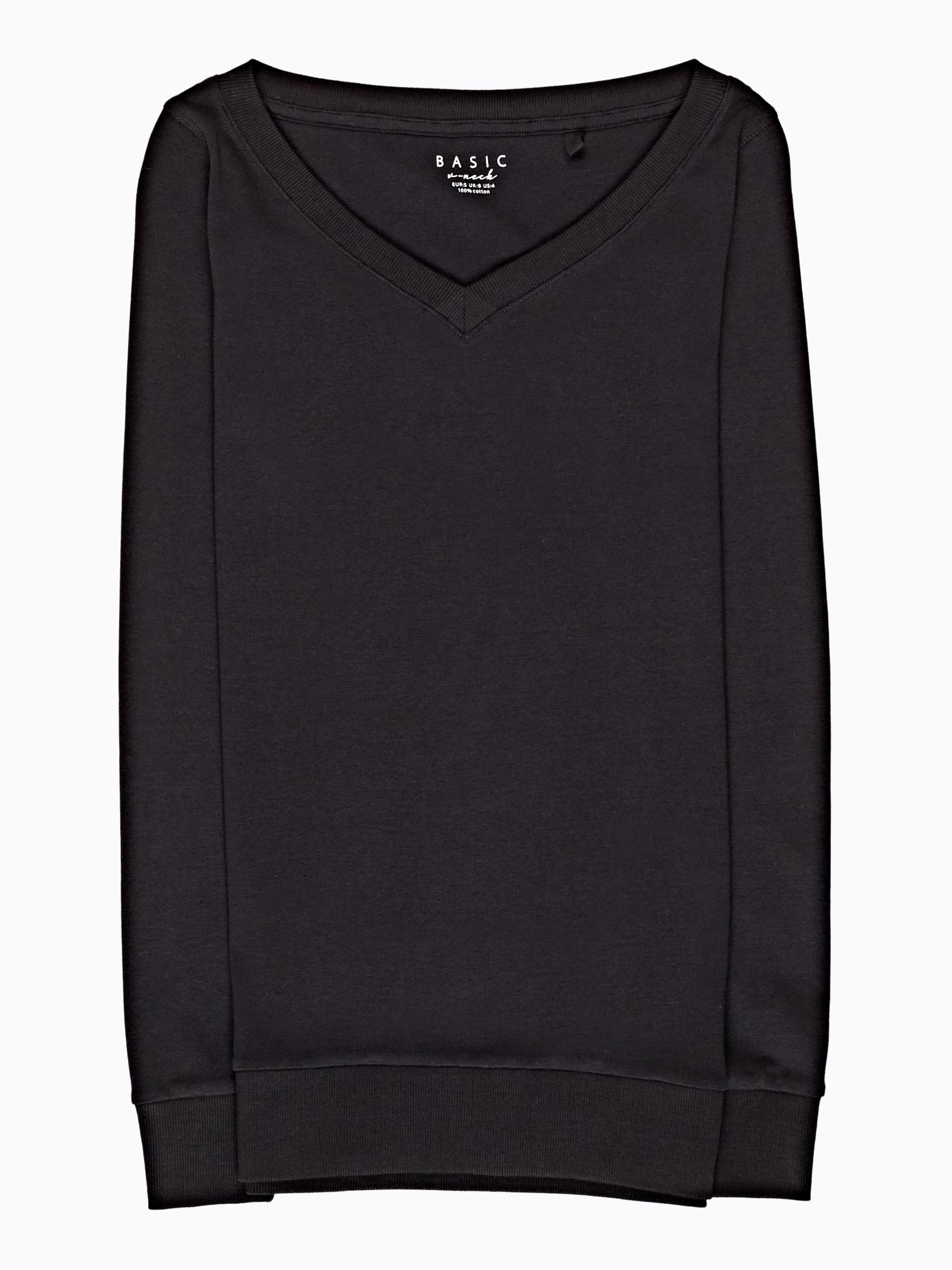 GATE Jednoduché žebrované tričko s véčkovým výstřihem