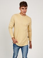 Longline sweatshirt with shoulder detail