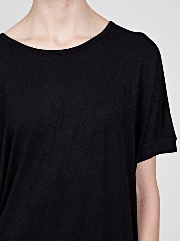 Oversized basic viscose top