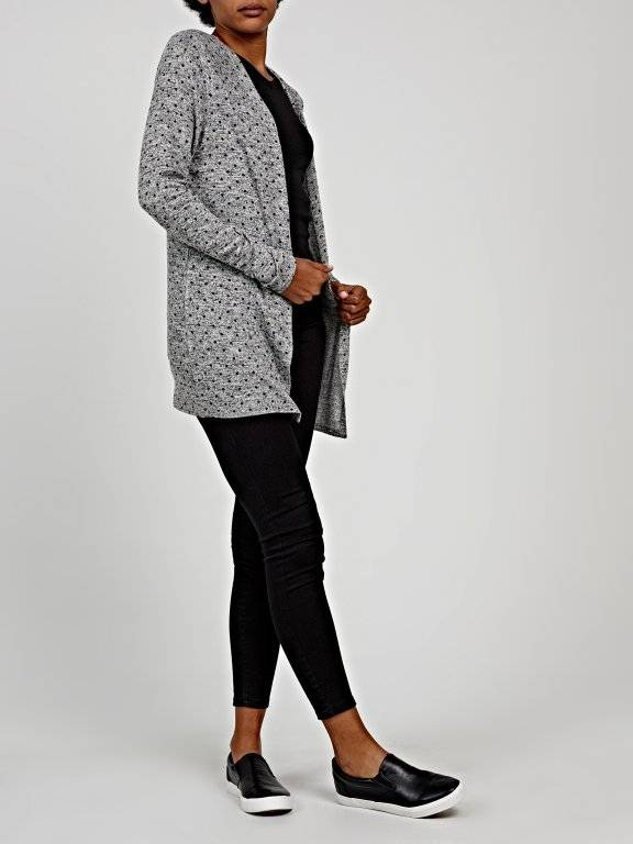 Polka dot print light cardigan