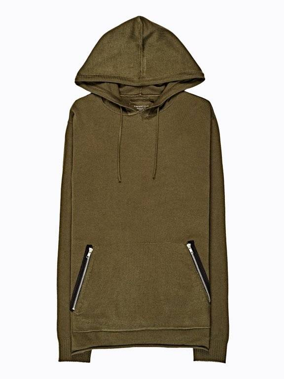 Jumper with hood & pockets