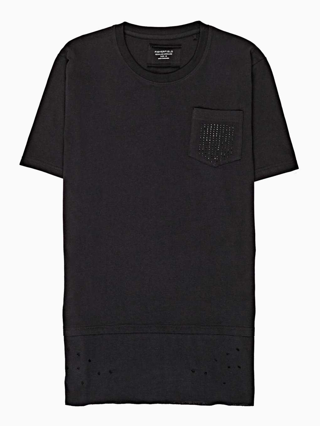 Longline t-shirt with embelishment