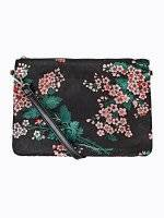 Flower print messenger bag
