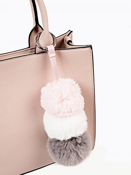 Tripple pom pom key ring