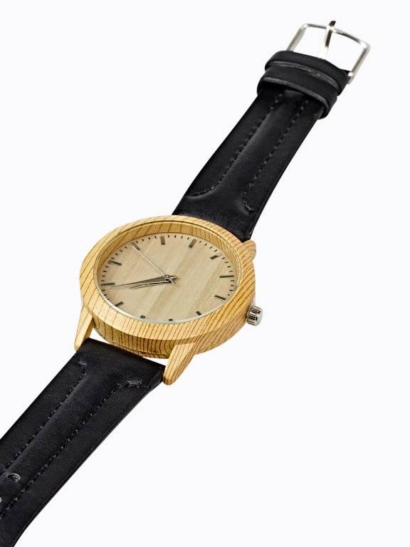 WATCH WITH WOODEN DIAL