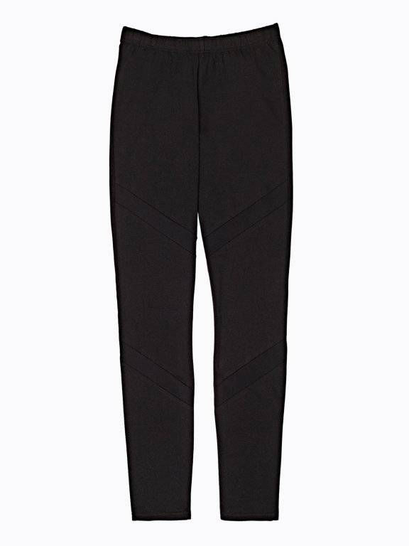 Leggings with mesh details