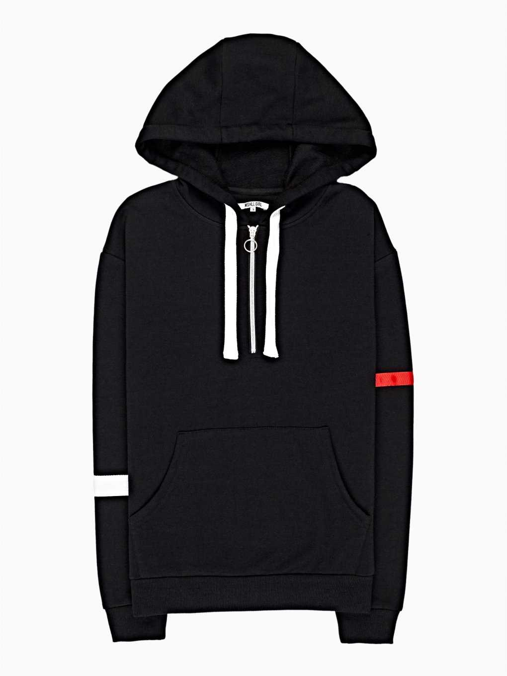 Hoodie with tapes