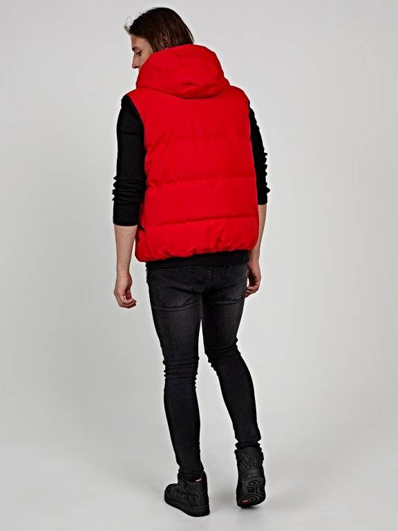 Basic padded vest with hood