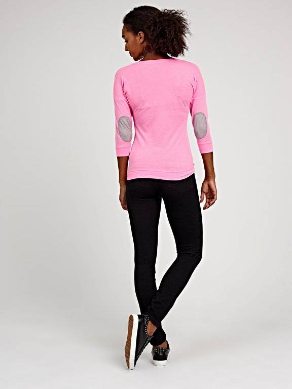 Top with elbow patches