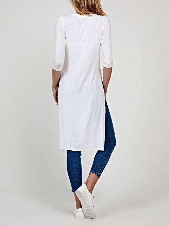 Basic longline viscose t-shirt