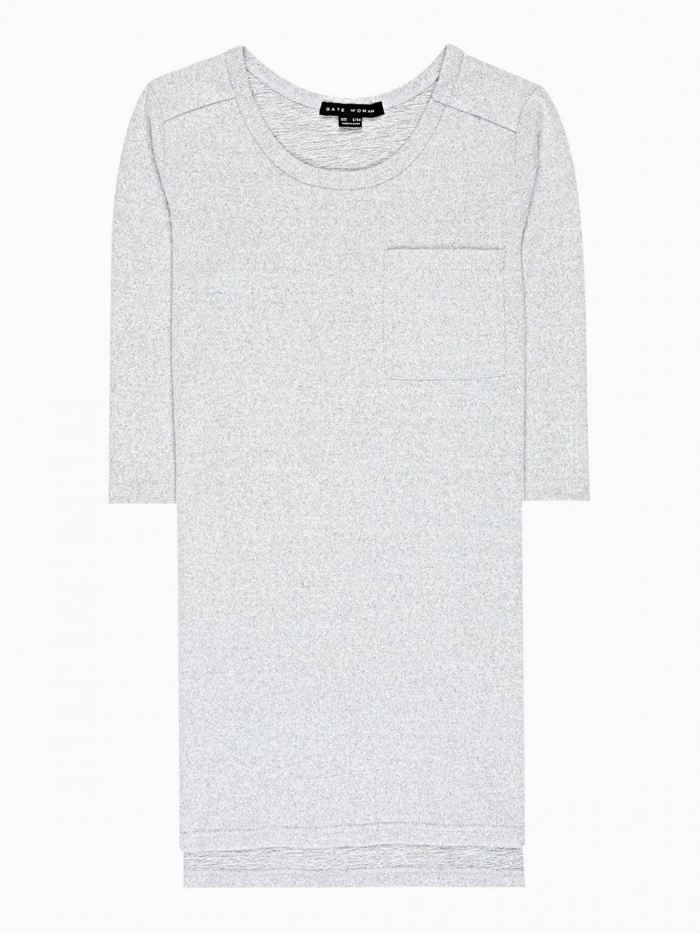 LONGLINE T-SHIRT WITH CHEST POCKET