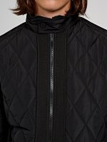 Quilted jacket with stand up collar