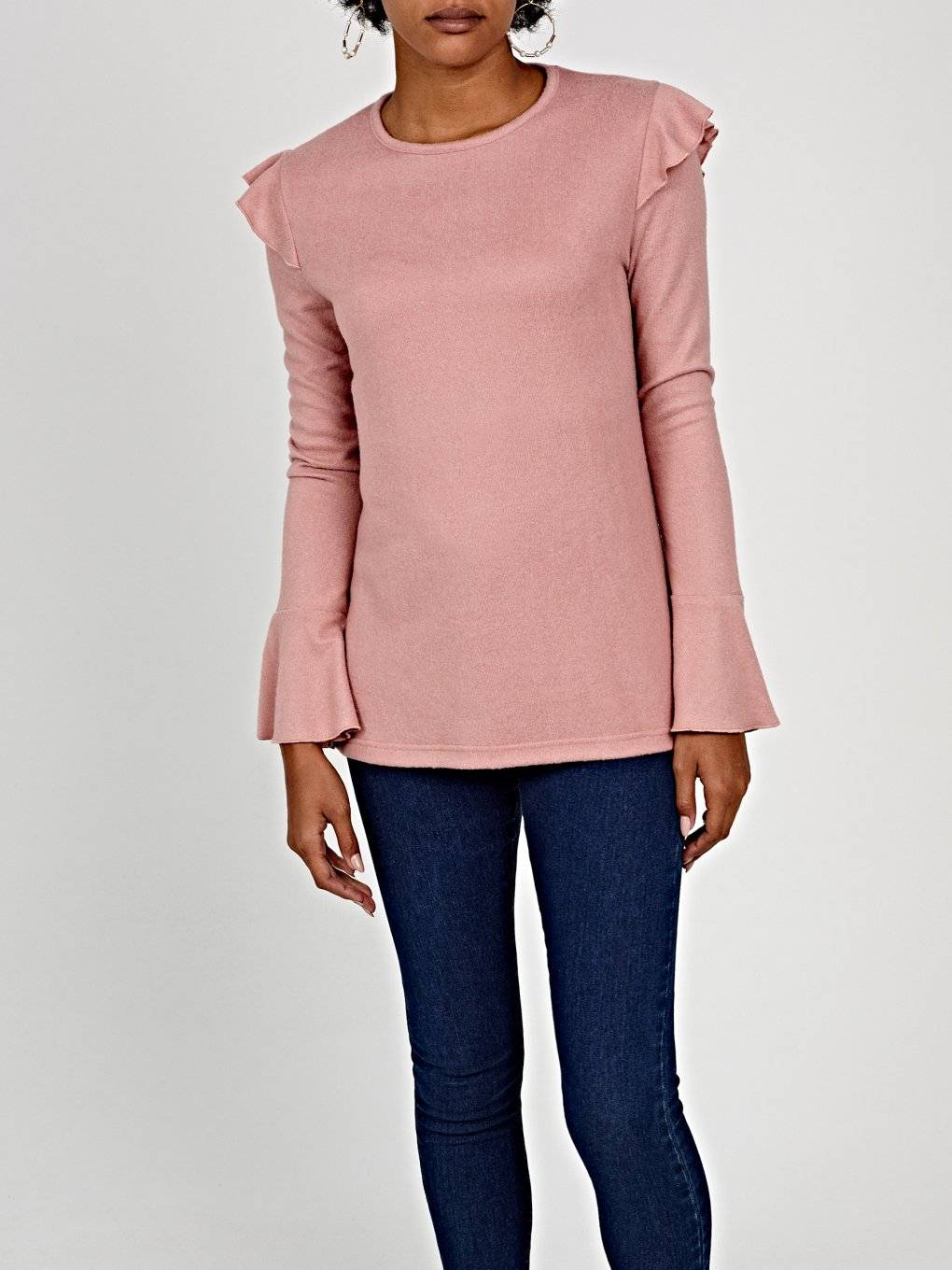 Jumper with ruffle sleeve
