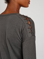 TOP WITH SHOULDER LACING