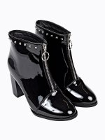High heel ankle boots with studs