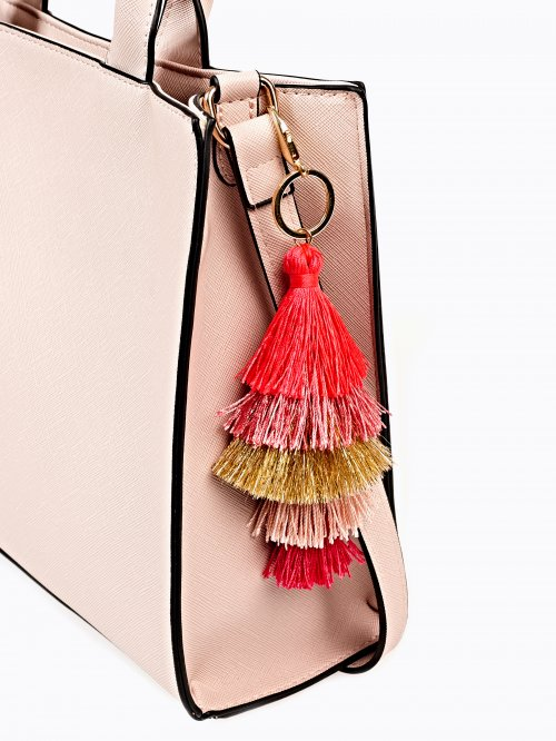 Layered tassel key ring