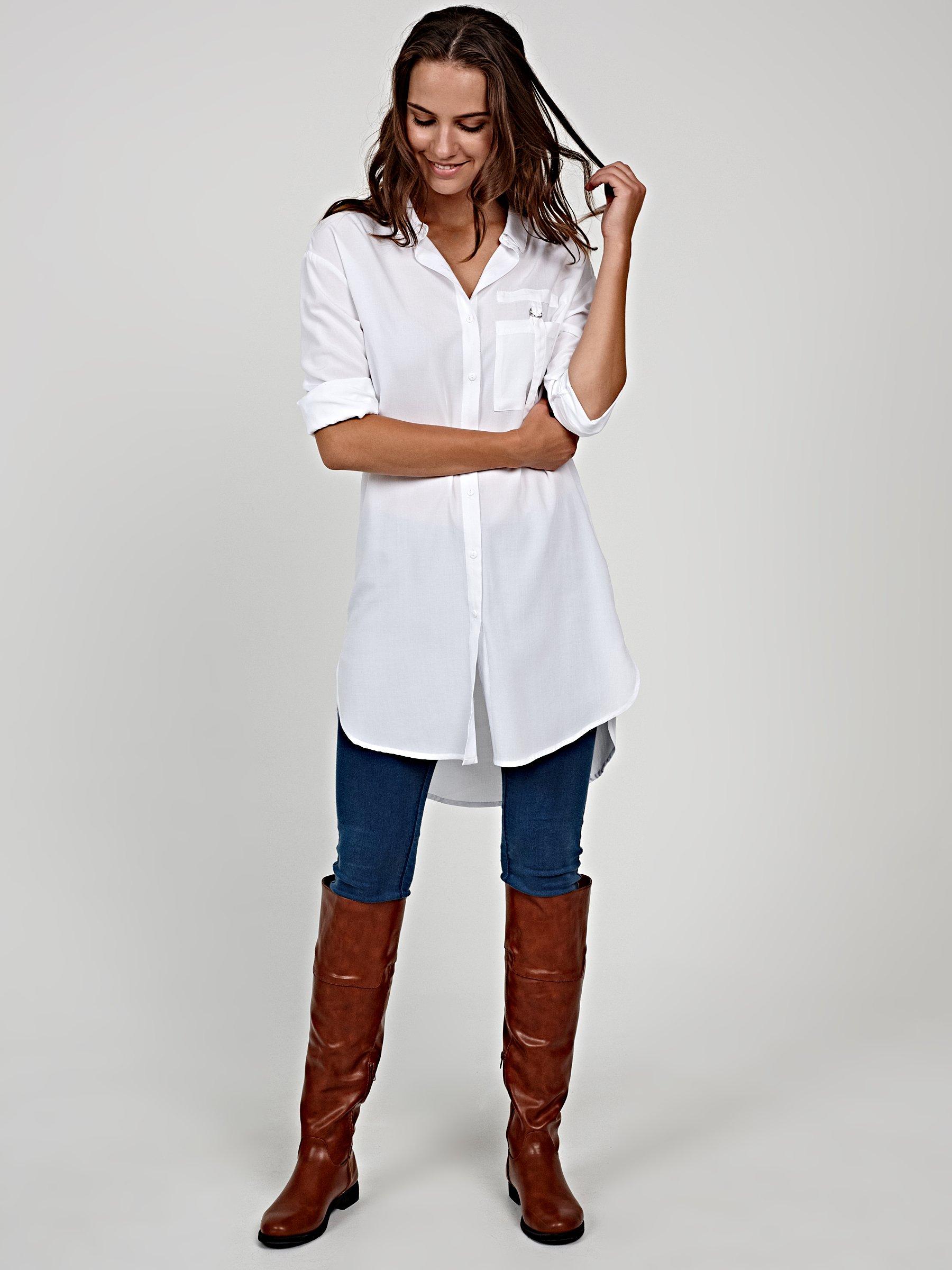 b6a334ddb6b46d Długa koszula z wiskozy   GATE