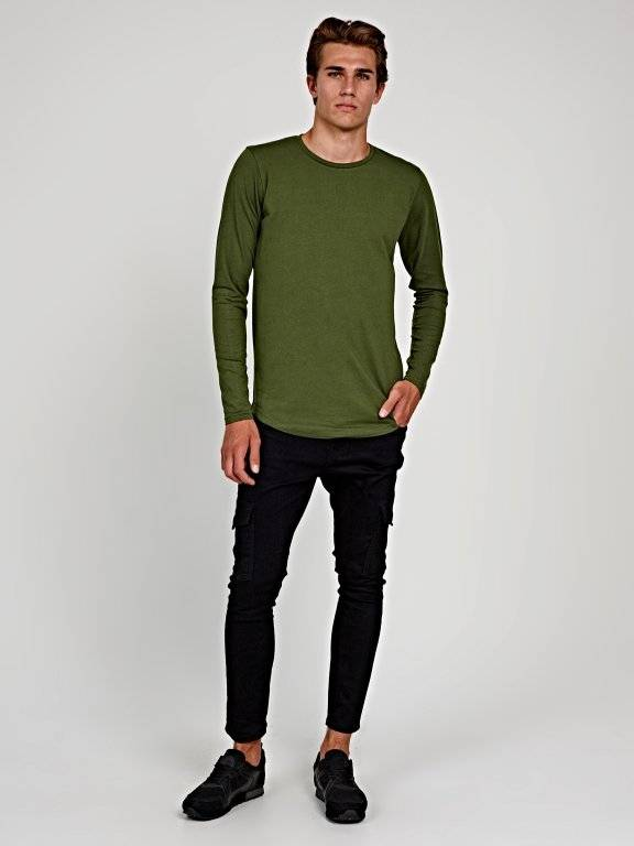 Basic stretch slim fit t-shirt