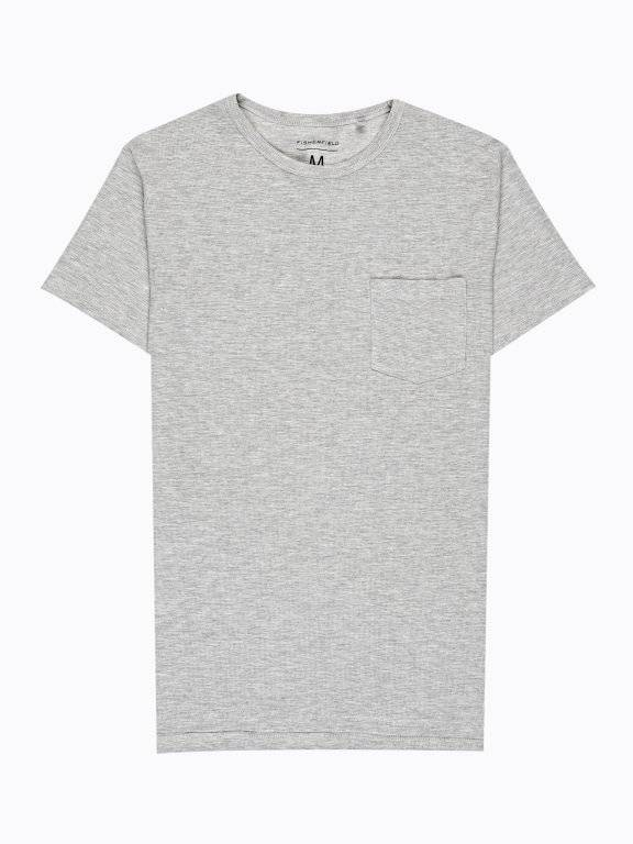 BASIC WAFFLE-KNIT T-SHIRT WITH CHEST POCKET