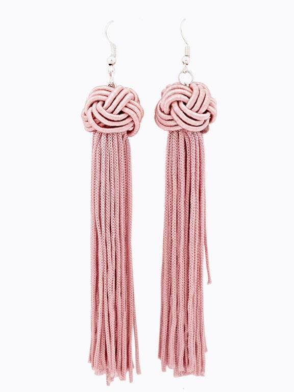 Long earrings with tassels
