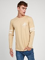 SCOOP HEM T-SHIRT WITH LONG SLEEVE