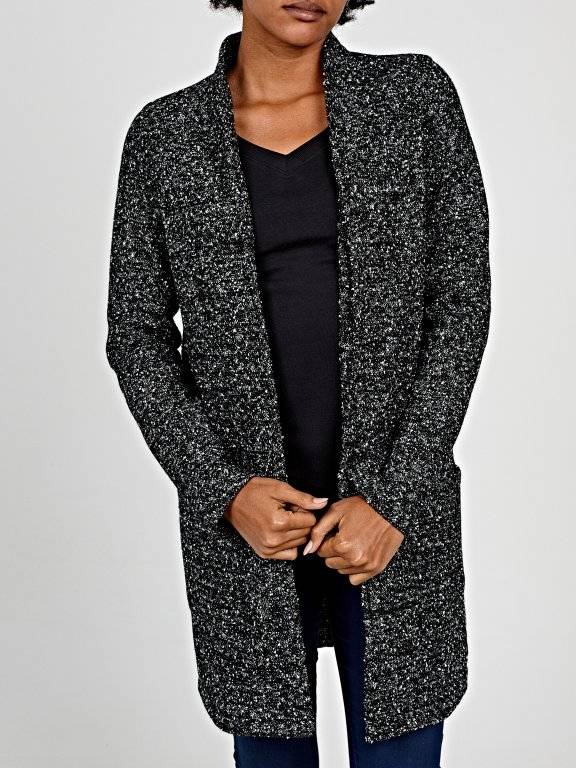 Marled blazer with pockets