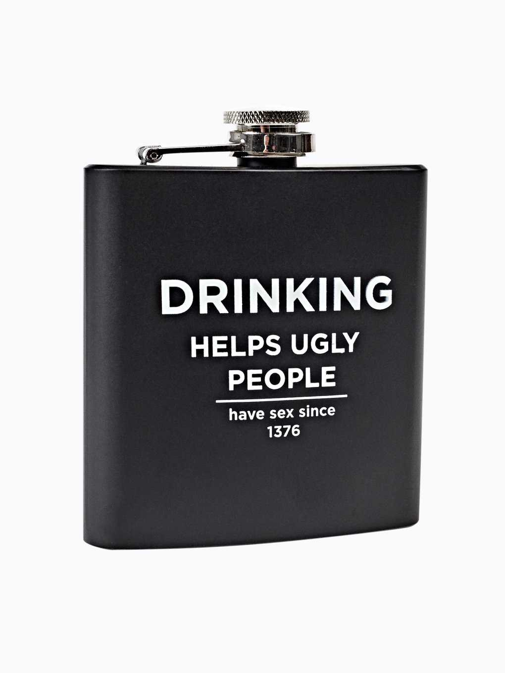 Hip flask with message print