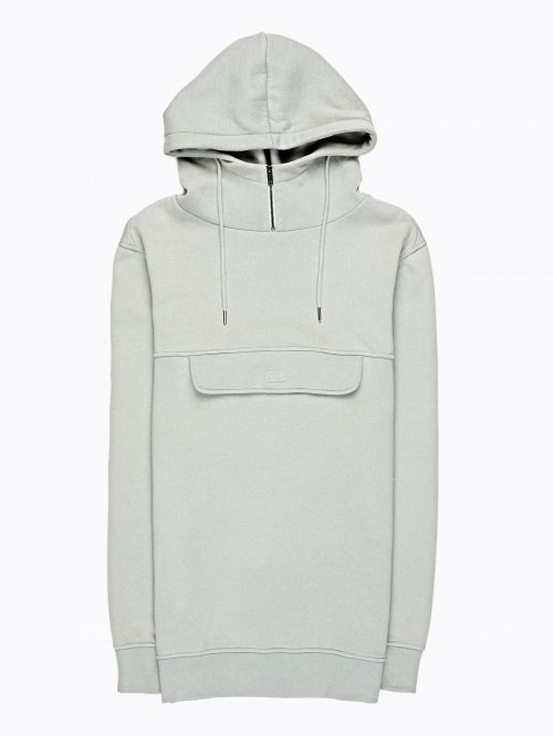 Hoodie with chest flap