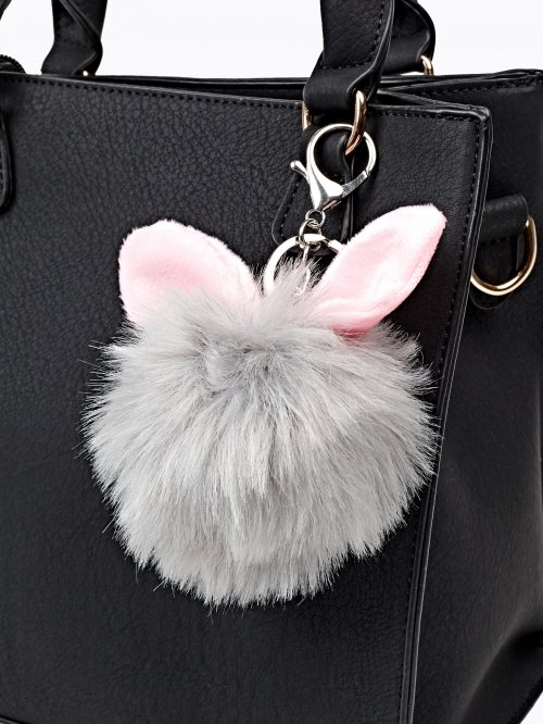 POMPOM KEY RING WITH EARS