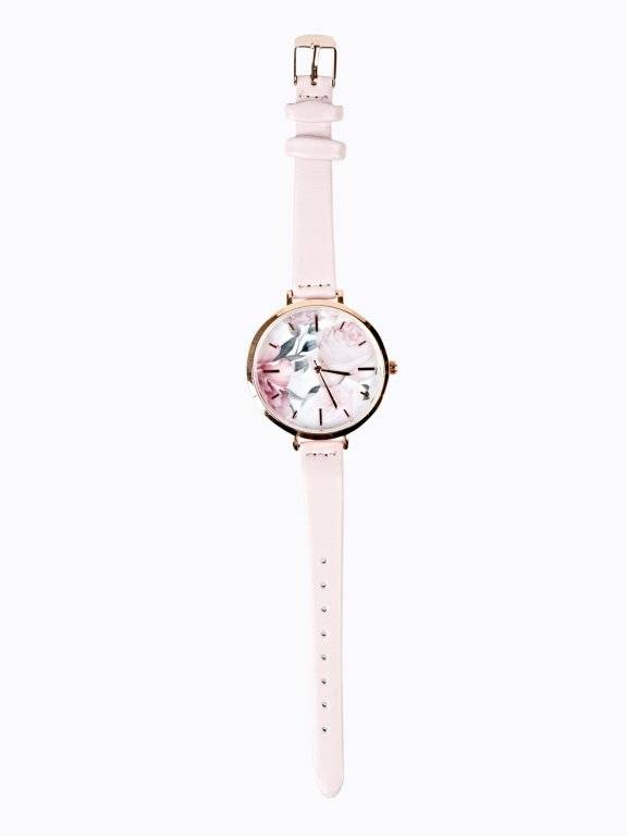 Watch with floral dial