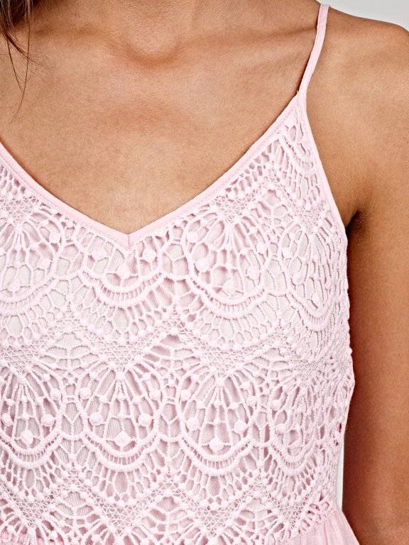 Strappy dresswith crochet details