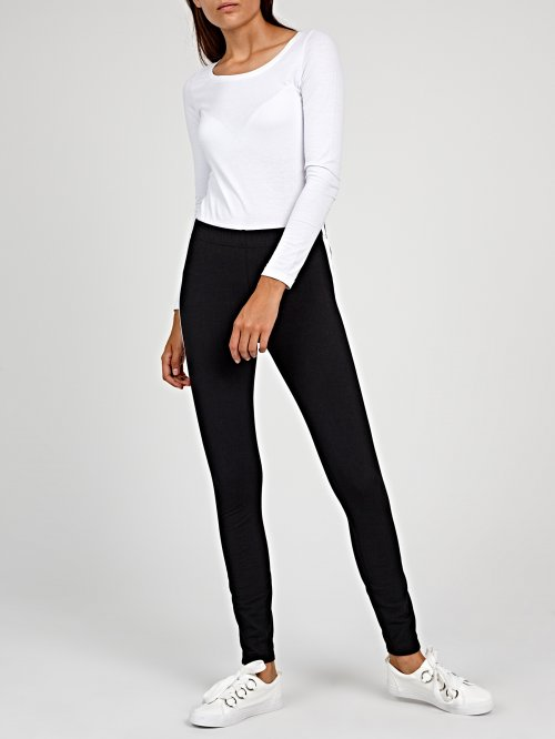 Leggings with contrast side stripe