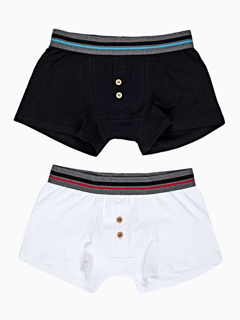 2-pack boxers with buttons
