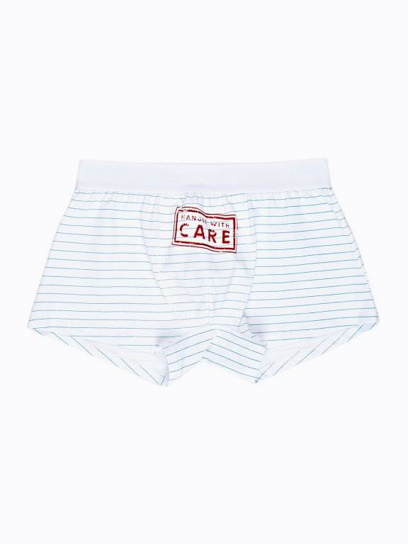 Striped boxers with print
