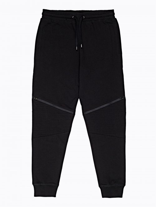 Biker sweatpants with zippers