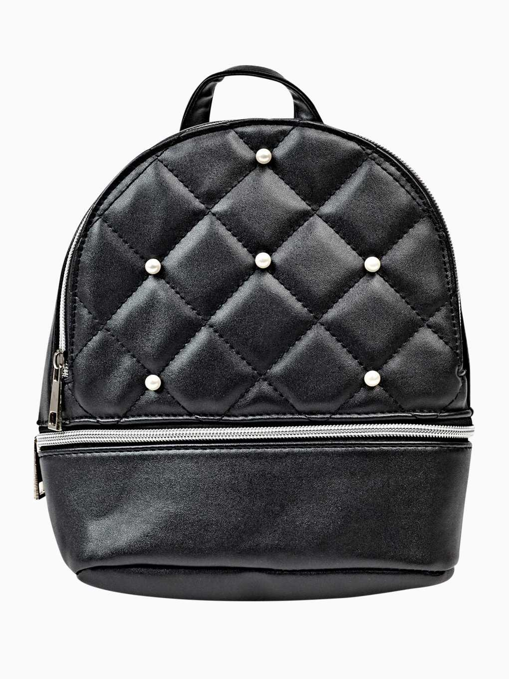 Mini backpack with pearls