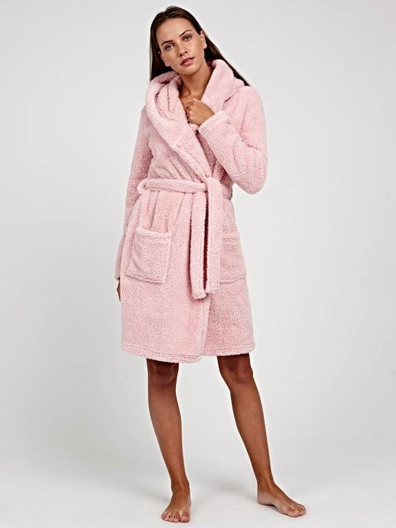 Basic supersoft fleece dressing gown