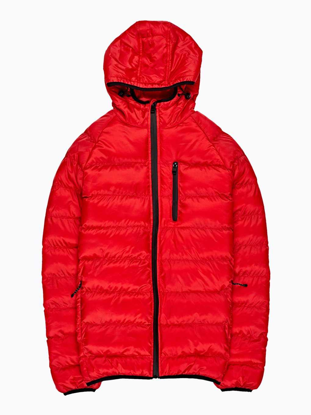 Quilted light padded hooded jacket