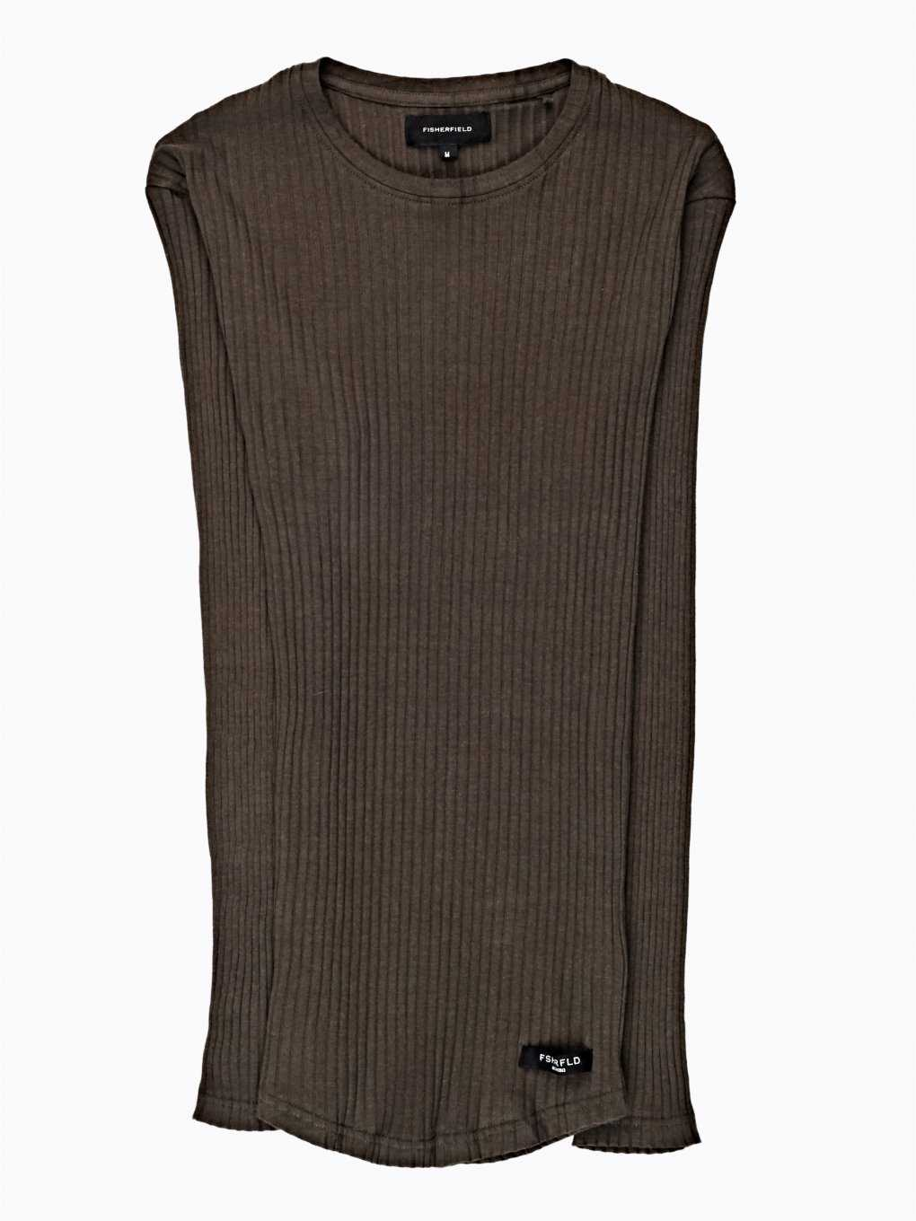 BASIC RIB-KNIT SLIM FIT T-SHIRT