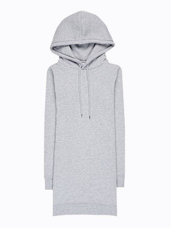 Longline hoodie with side pockets