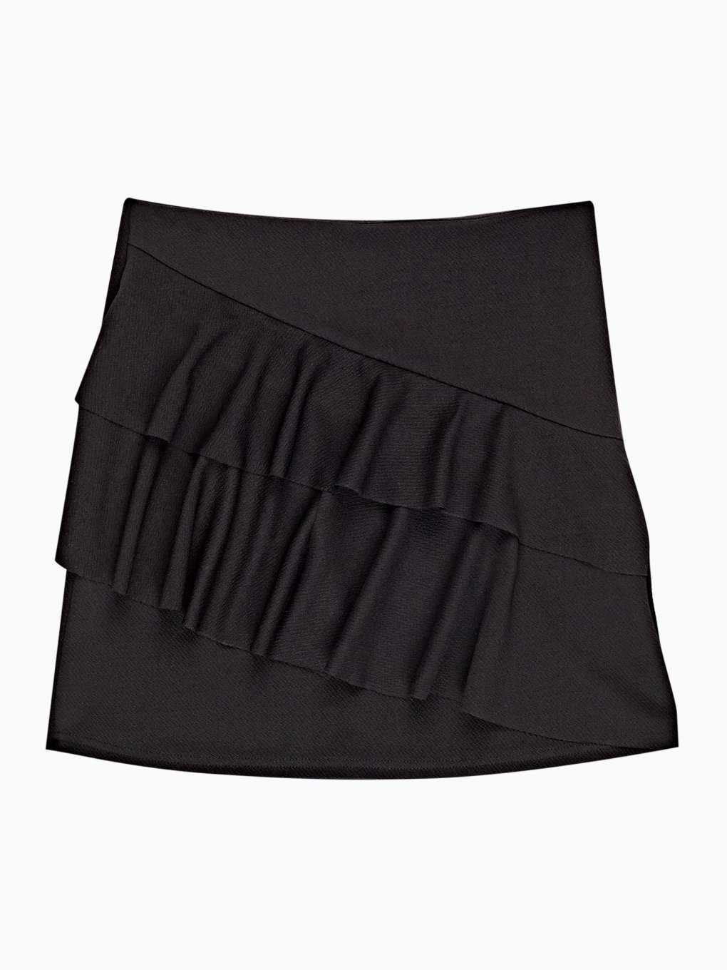 Mini skirt with ruffles