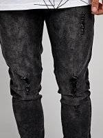 Knitted denim slim fit jeans