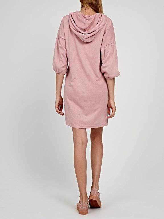 Sweatshirt dress with hood
