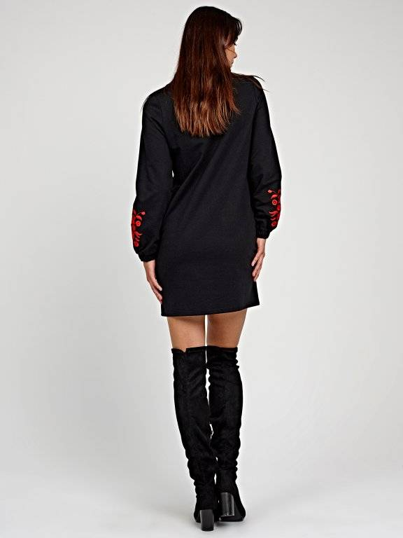 Sweatshirt dress with embroidery