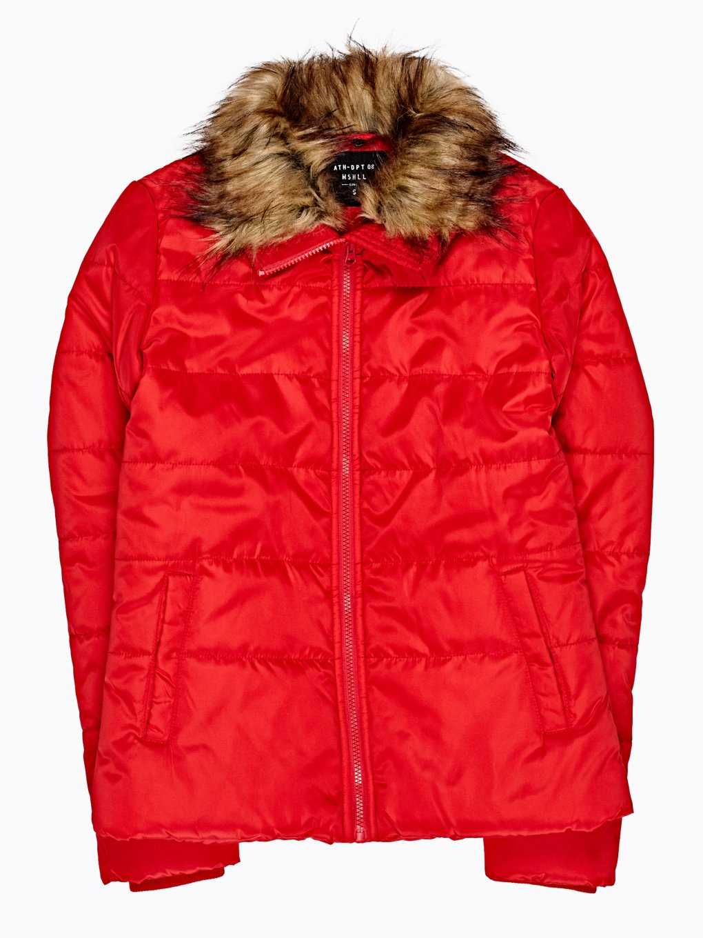 QUILTED PADDED JACKET WITH FAUX FUR