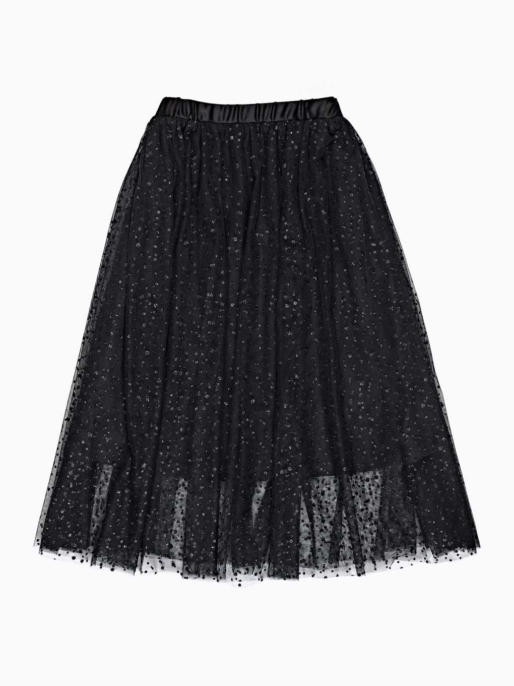Tulle skirt with glitter dots