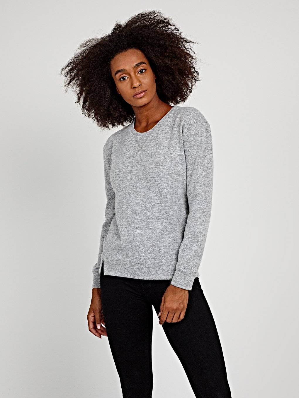 Basic jumper with front slits