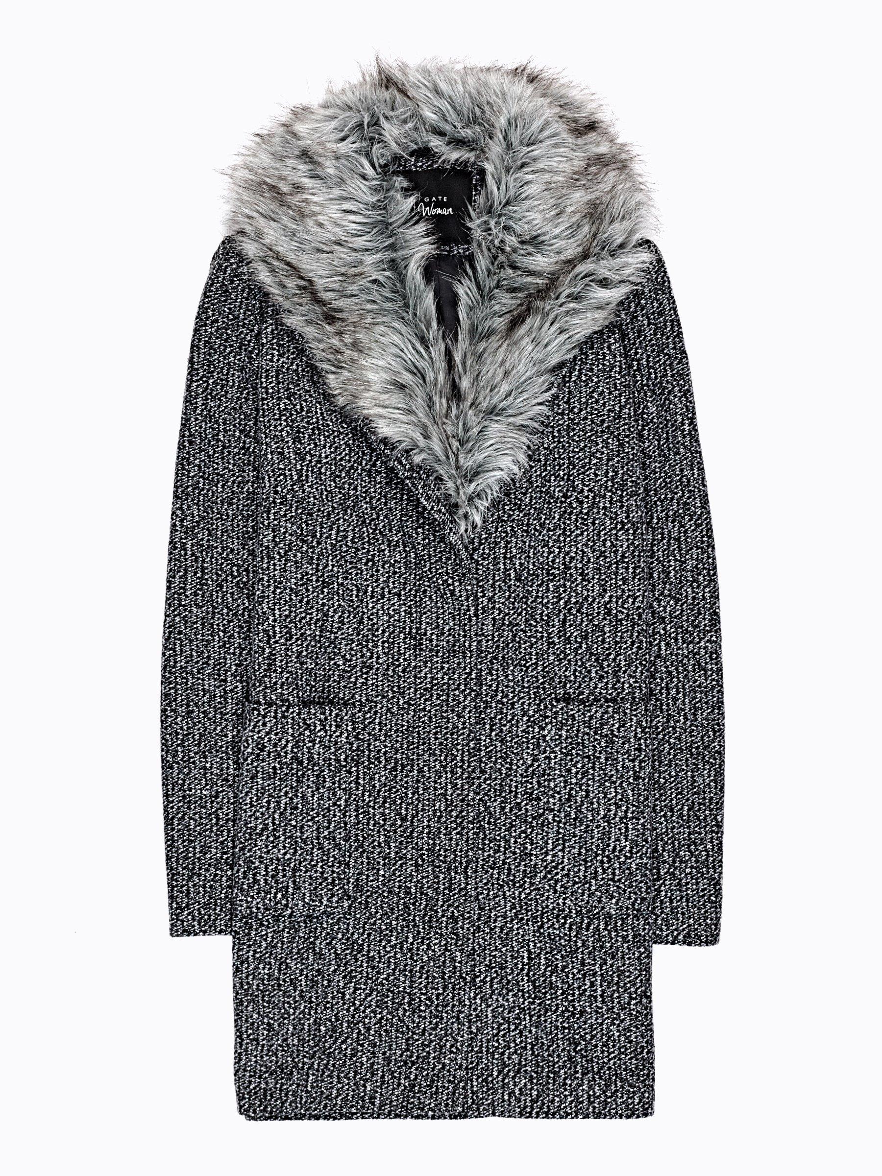 Rovný kabát z vlnenej zmesi  7e2a1c934d8