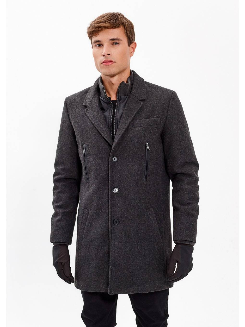 COMBINED COAT IN WOOL BLEND