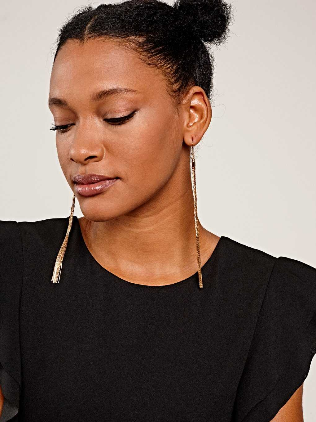 Longline drop earrings